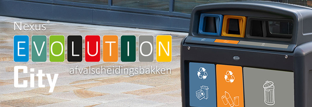 Nexus® Evolution City afvalscheidingsbakken